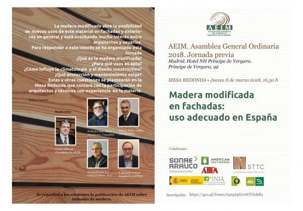 Programa madera modificada. 8, marzo,