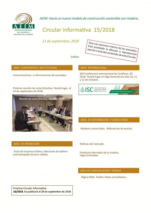 AEIM Circular informativa 15, 2018