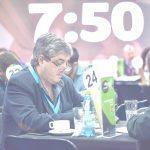 Carles Alberch en una de las reuniones.