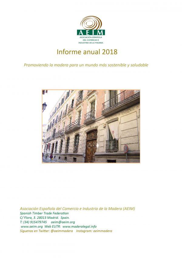 Portada informe anual 2018