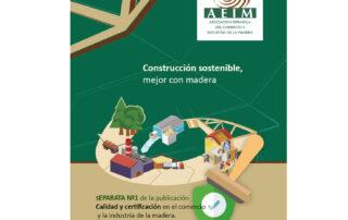 Construccion sostenible. mejor con madera. Portada.
