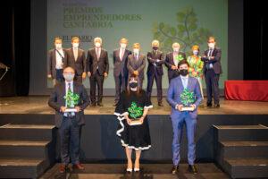 Galardonados. Premios Emprendedores Cantabria 2021.